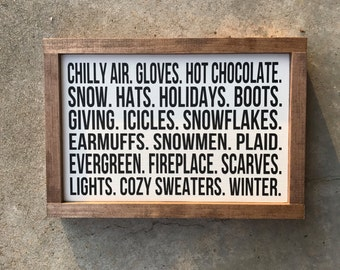 "9""x13"" winter words sign"
