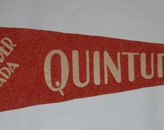 Genuine Vintage 1930s Felt Pennant Callander Ontario Dionne Quintuplets — Free Shipping!
