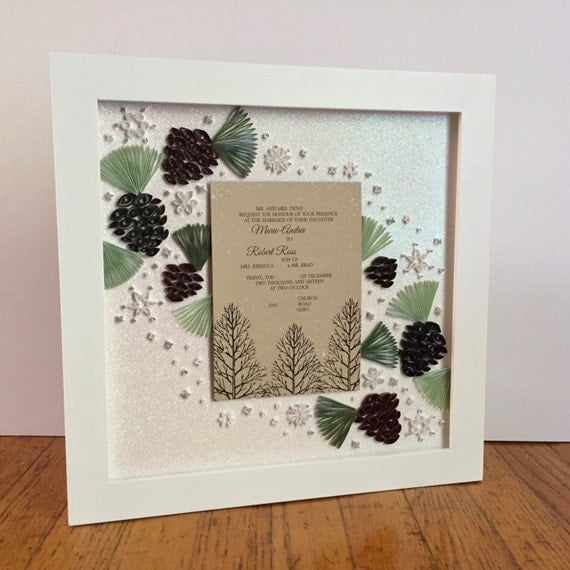 Gift - Custom Wedding Invitation Keepsake - Unique Wedding Gift ...