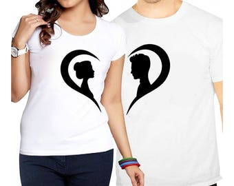 Lovers, Download, Stamp Design, x2 Couple T-Shirts STAMP SET, couple, Gift For him, Gift For her, Gift for Couple, Lovers