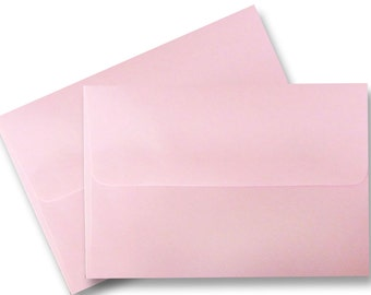 A6 Pastel Baby Pink Envelopes for 4 x 6 Invitations Cards Announcements Weddings Photo Gift Shower