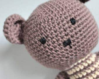Crochet Long Legged stuffed teddy bear  Made to order  Crochet Toy   Amigurumi