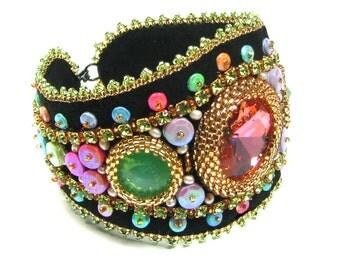 Bliss Bead Embroidery Bracelet Kit by Ann Benson