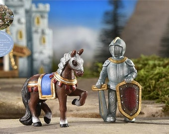 Fairy Garden  - Medieval Times Horse And Knight - Miniature