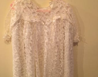 Lace, lined chrisening gown