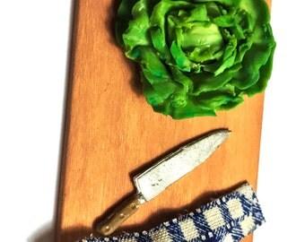 Artisan Single Cabbage ~ Miniature Food ~ Dolls House Miniatures