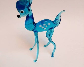 Vintage glass deer figurine