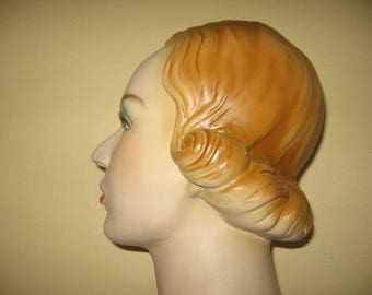 RESERVED/ Vintage 1930's Style Mannequin Head!