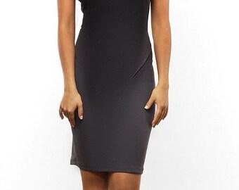 Black dress knee Autumn Spring Elegant dress Fashion clothes for women Evening Dress
