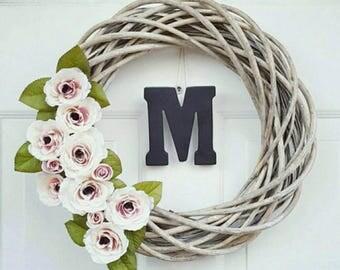 Spring Wreath - Front Door Wreath - Country Decor - Rustic Decor - Farmhouse Decor - Country Wreath - Country Chic Decor - Wreath for Door