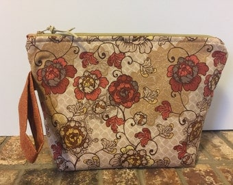 Floral Project Bag, Knitting Project Bag, Medium Project Bag, Makeup Bag