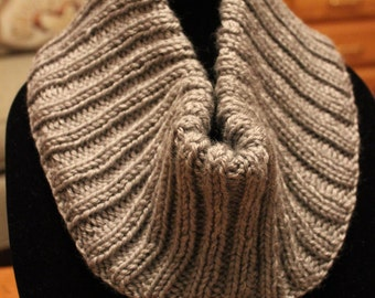 Hand Knit Cowl -Knit Cowl - Scarf - Winter Cowl - Knitted Cowl - Cowl