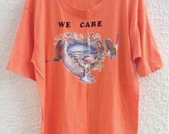 Vintage Orange Earth Environmentalist Shirt