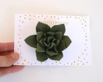 Flower Hair Clip,Flower Hair Accessories,Succulent Hair Clip,Flower Girl Hair Clip,Felt Flower Hair Clip,Photo Prop,Spring Hair Clip