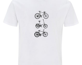 Bikes - mens white t-shirt EarthPositive