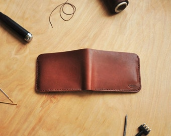 Treibholz Men's Wallet, Oxford Brown Leather, Minimalist, Simple, Customizable