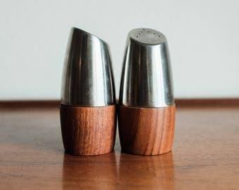 Vintage Teak Salt and Pepper Shakers, AS Sweden / Mid Century Scandinavian Design