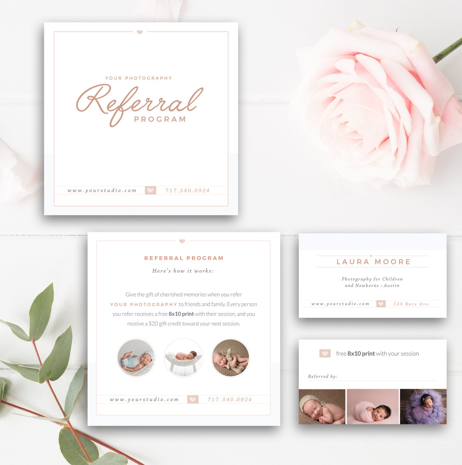 photography referral card photoshop template referral. Black Bedroom Furniture Sets. Home Design Ideas