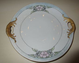 VINTAGE HAND PAINTED Plate with Handles