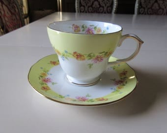 ENGLAND DUCHESS TEACUP and Saucer Set