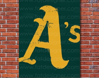 Oakland Athletics Graffiti- Art Print - Perfect for Mancave