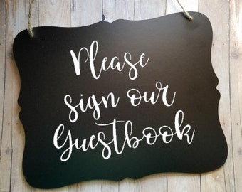 Please Sign Our Guestbook Sign - Reception Sign - Wedding Accessories - Wedding Decor - Wedding Stuff - Wedding Signs - Guestbook