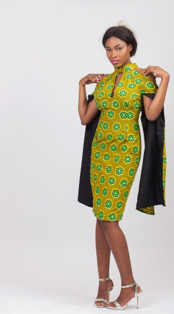 Lisha dress in green