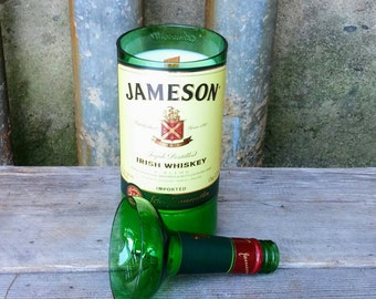 Jameson Whiskey Recycled Liquor Bottle Scented Candle, Fun and Unique Irish Gift