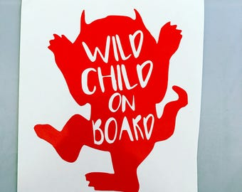 Wild Child Car Decal