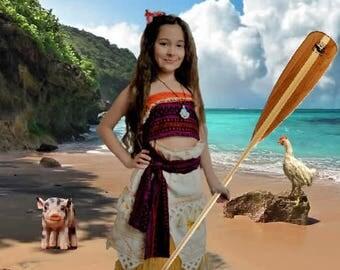 "Moana inspired ""Island Princess Costume"""