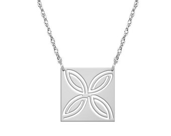 Sterling Silver (.925) Square Designed Necklace