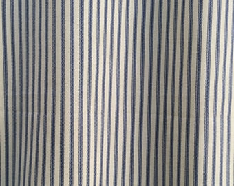 custom fabric shower curtain ticking stripe shower curtain indigo blue natural 72 x 84 108 long