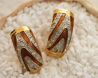 Glamorous Vintage Clip On Earrings