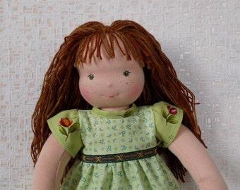 waldorf doll, fabric doll, textile doll, rag doll, soft doll, cloth doll, personalized doll, custom doll