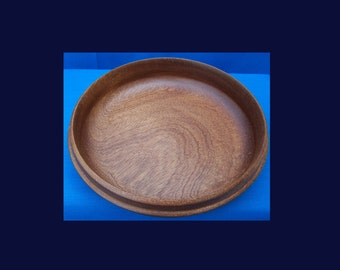 Mahogany wood Bowl  - Nice grain and rich colour  - SALE ITEM - wooden bowl