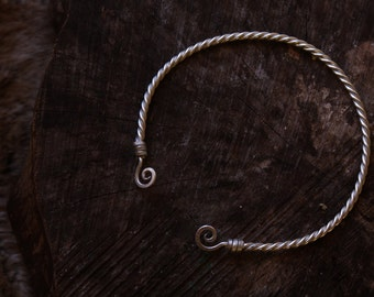 Viking torc necklace • Torque necklace • Celtic torc • Nordic jewelry • Torc choker • Viking necklace • Celtic necklace • Viking jewelry