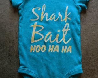 Shark Bait Onesie 6 Month Size