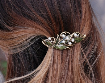 Bridal Barrette, Wedding Barrette, Hair Accessory, Hair Barrette, Hair Clip, Wedding Hair Accessories, Wedding Jewelry, Hair Pin B533