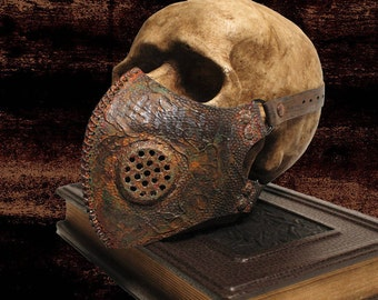 Rusted Post Apocalyptic Leather Mask Mad Max Gas Mask CyberGoth Gas Mask Goth Mask Punk Steampunk Burning Men Mask Respirator Cosplay Mask