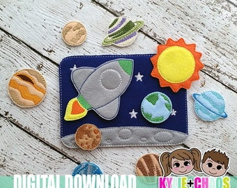 Space Felt Playset ITH Embroidery Design