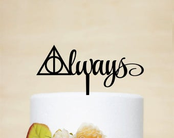 Harry Potter Cake Topper,Wedding Cake Topper,Always Cake Topper,Wedding Decoration,Love Cake Topper - P174