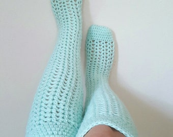 Valerie's Knee High Socks Crochet Pattern *PDF FILE ONLY* Instant Download