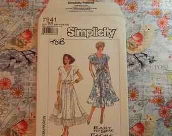 Misses Dress Pattern - 1987 Simplicity 7941