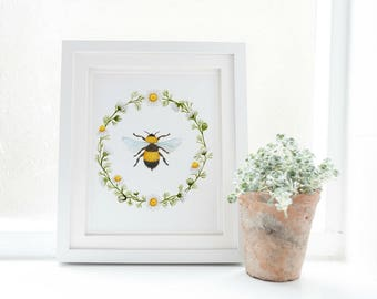bee art etsy