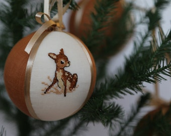Tree ornaments First Christmas gift Personalized Christmas gift Baby deer Christmas tree ball Xmas Bambi Christmas Bambi Embroidered