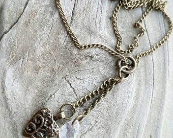 Bronze Heart Dangle Necklace