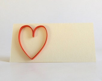 wedding place card quilled wedding decoration quilled seating card quilled heart place card