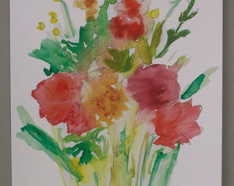 Fall Wildflowers - Watercolor Print