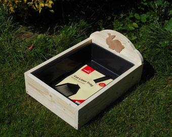 Wooden Rabbit Litter Tray Holder