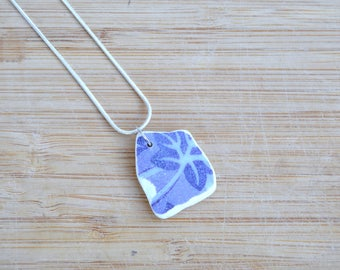 Sea China Necklace, Mother's Day, Upcycled Pottery, Seaside Jewellery, 9th Anniversary Gift, Unique Gift for Her, Sea Pottery, Beach Pottery